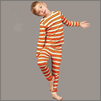 Grrreat Stripe Print Long Johns by maus house