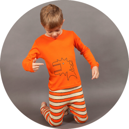 Grrreat Monster with Stripes Long Johns by maus house