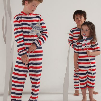 Patriot Act Stripes Onesie by maus house