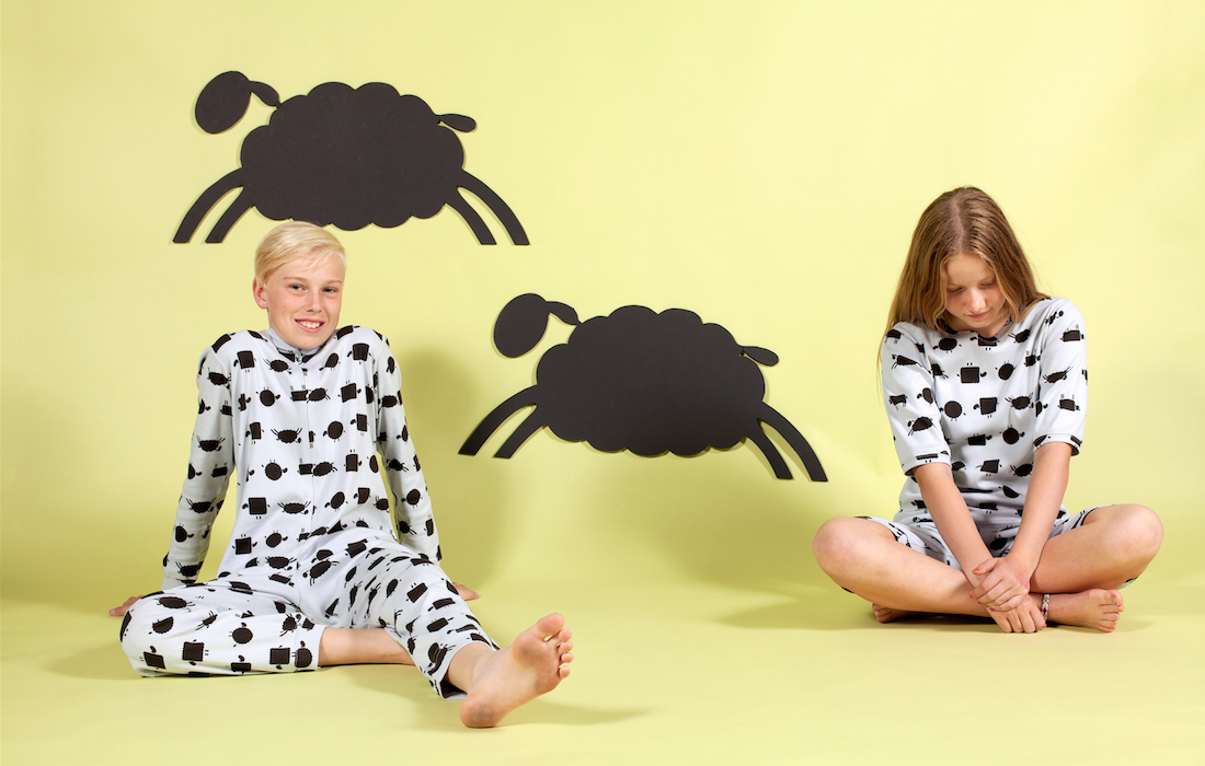 count to sheep onesie and shorties by maus house