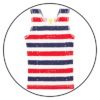 Patriot Act Stripe Unisex Singlet by maus house
