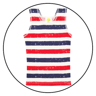 Patriot Act Stripes Singlet by maus house