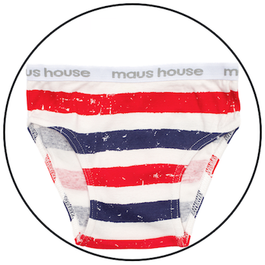Patriot Act Stripe Undies by maus house