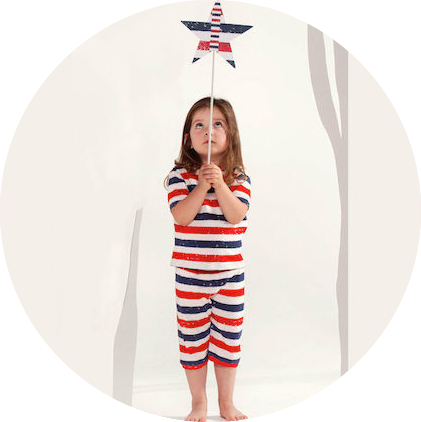Patriot Act Stripe Shorties by maus house